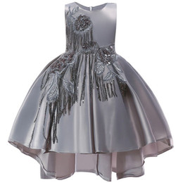 $enCountryForm.capitalKeyWord Australia - Flower Baby Girls Lace Appliques Princess Dress Toddler Wedding Party Formal Ball Gown Dress For Girls 2 3 4 5 6 7 8 9 10 Years