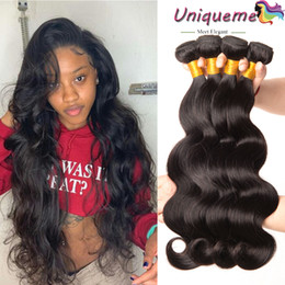 cheap black hair weave extension Australia - Remy Human Hair Weave Brazilian Body Wave Hair Extensions Cheap Brazilian Hair Bundles Restyleable Dyeable For Black Women Free Shipping