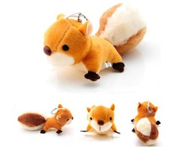 Cloth Bouquet Australia - 2019 Cute Big tail cartoon squirrel Plush Toys Soft Stuffed Dolls small pendant keychains Wedding Gift Toy Bouquet Decor DOLL