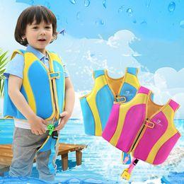 Kids swimming vests online shopping - Professional Neoprene Kids Life Jacket Vest Kids Life Vest Water Sports swim Life Jackets S M L XL For kg Boy Girl Chlidren