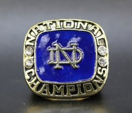 Ring Sons Australia - Newest arrival men fashion jewelry 1973 Notre Dame championship ring husband father son fans birthday festival new year gift souvenir