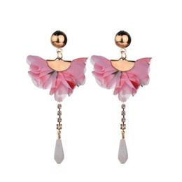 $enCountryForm.capitalKeyWord UK - New Trendy Flower Drop Dangle Earrings Jewelry Earrings For Women Cute Wedding Charm Statement Earring Wholesale E2826