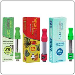 Pen samPles online shopping - Sample order Smart Cart Vape Cartridges SmartBud ml Ceramic Glass Tank Green Rubber Tip Cart With Flavor Packages For Smartcart Vape Pen