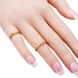 delicate rings NZ - Delicate Mini Zircon Pave Hollow Heart Ring Women Girls Gift Rose Gold Color Fashion Bague