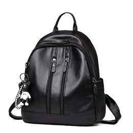 pretty school bags NZ - 2019 Pretty Durable Women Girl Backpack Travel PU Leather organizer Rucksack Shoulder School Bags New Hight Qualitive