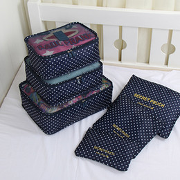 Wholesale laundry set resale online - 6pcs set Travel Organizer Storage Bags Portable Luggage Organizer Clothes Tidy Pouch Suitcase Packing Laundry Bag Storage Case