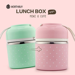 $enCountryForm.capitalKeyWord Australia - Worthbuy Cute Japanese Thermal Lunch Box Leak-proof Stainless Steel Bento Box Kids Portable Picnic School Food Container Box T8190628