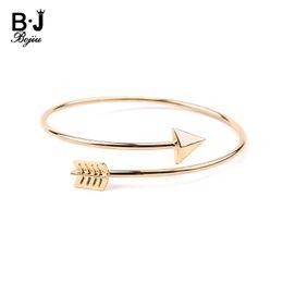 gold bracelets child 2019 - BOJIU Trendy Adjustable Arrow Little Kids Girls Cuff Bracelets Child Fashion Gold Silver Rose Gold Bangles Sisters Jewel