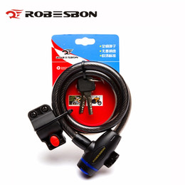 Electric Wires Cables NZ - ROBESBON bike locks bicycle lock anti-theft safe bike cable lock wire rope 2 key MTB electric bicycle accessories 12*1200mm 335g #137386