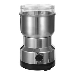 Coffee beans grinder online shopping - Professional Stainless Steel Electric Coffee Bean Grinder W ml Blender for Kitchen Office Home Use Grains Grinding Machine