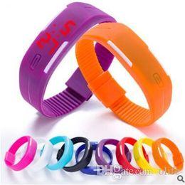 $enCountryForm.capitalKeyWord NZ - Waterproof Soft Led Touch Watch Jelly Candy Silicone Rubber Digital Screen Bracelet Watches Men Women Unisex Sports Wristwatch Free DHL