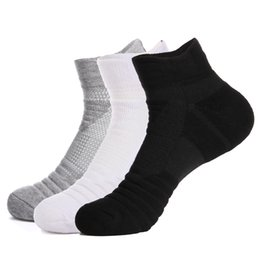 hiking cycling UK - Promotion Outdoor Sports Basketball Socks Men Football Cycling Compression Socks Cotton Towel Bottom Non-slip Men's Socks