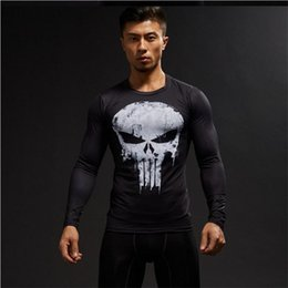 $enCountryForm.capitalKeyWord Australia - Hot 3D Printing Superhero Superman Batman Men Long Sleeve T Shirt G ym Compression Tights Tops Fitness T-shirt