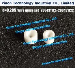 $enCountryForm.capitalKeyWord Canada - (2pcs lot) d=0.205mm Diamond Wire Guide Set 200431112+200431122 U&L for Robofil 230F,240,290,310, 135011600, 135011601 Charmilles edm parts
