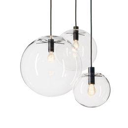 Ingrosso Lampade a sospensione JESS Rope Globo Chrome Glass Glass Hanglamp Lustre Sospensione Kitchen Lights Apparecchio Home Hanging Lights E27