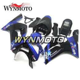 $enCountryForm.capitalKeyWord Australia - ABS Plastic Motorcycle Full Fairings For Kawasaki ZX6R ZX-6R Ninja 2003 2004 ZX-6R 03 04 bodywork Injection Cowlings Elf Black Blue Covers