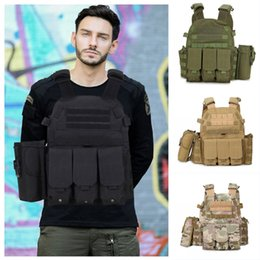 TacTical vesT green online shopping - 4 Colors Army Jacket Amphibious Vests Combat Tactical Vest CS Equipment Multipurpose Camouflage Vest Outdoor Fishing Hunting Clothing M119F