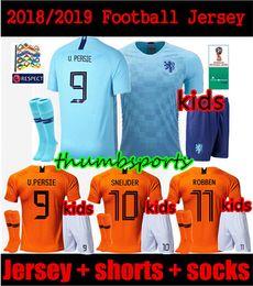 Kids kit 2018 19 Holland soccer jersey home orange netherlands national  team JERSEY memphis SNEIJDER 18 19 V.Persie Dutch football shirts 815099a55