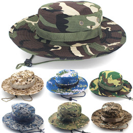 f3885cb473f Wholesale Golf Bucket Hats Australia - Cotton bucket hat for men Fashion Military  Camouflage Camo Fisherman