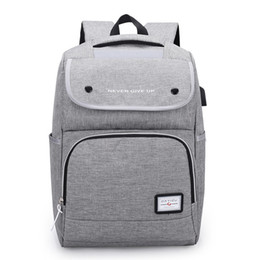 Charging Pack Australia - New fashion large capacity outdoor travel backpack casual USB charging student school bag waterproof computer pack wear resistant sports bag