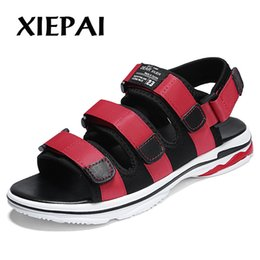 $enCountryForm.capitalKeyWord Australia - XIEPAI Men Summer Casual Sandals Slip-on Shoes Size 39-44 Breathable Waterproof Male Beach Shoes Black Grey Red Colors