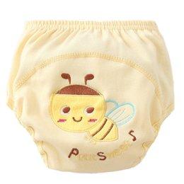 Potty Training Nappies Australia - Baby Pants Elastic Waist Animal Cartoon Ruffle Panties Reusable Nappy Briefs Diaper Cover Pants Potty Training Underwears