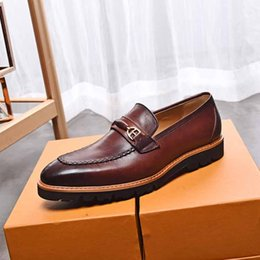 $enCountryForm.capitalKeyWord NZ - Formal shoes Business British Style Casual Famous Brand Men Lazy Flats Loafers Zapatos Hombre Real Leathe breathable Black
