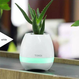 Bluetooth Toys Australia - Smart Music flower pots bluetooth speaker real plant touch plant piano music playing singing song colorful night light popular toys gift
