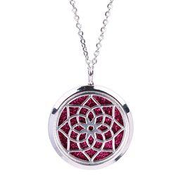 $enCountryForm.capitalKeyWord NZ - Magnetic Open Lotus Flower Mandala Pendant Aroma Perfume Essential Oil Diffuser Locket Stainless Steel Necklace Jewelry