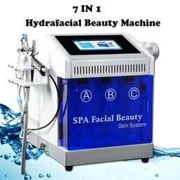 Discount hydrafacial spa - 8 in 1 Hydro Peel Microdermabrasion Hydra Facial Hydrafacial Deep Cleaning RF Face Lift Skin Tightening Spa Beauty equip