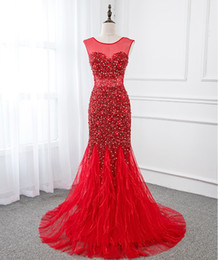 $enCountryForm.capitalKeyWord Australia - Long Evening Dresses Short Sleeves With Beaded Feather Floor Length Mermaid Party Dress Gowns For Woman Customize Plus Sizes