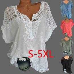5b735ade1b3ddb Linen bLouses shirts pLus size online shopping - MoneRffi XL Plus Size  Women Lace Blouses Sexy