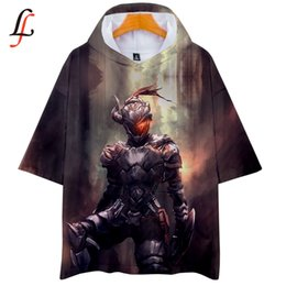 China Goblin Slayer harajuku 3D Personality K Pop Casual Hoodies Short Sleeve T-shirt Outwear Hip-Hop Soft Oversize Summer Clothes supplier hip hop pops wholesale suppliers