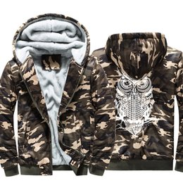 $enCountryForm.capitalKeyWord NZ - Pop2019 And Increase Down Thickening Keep Warm Camouflage Loose Coat Man Youth Cardigan Owl Printing Sweater Even Hat Athletic Wear