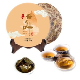 chinese tea tree 2020 - Hot sales 357g Yunnan Puerh Raw Tea Cake Tea Ancient Tree Gold Leaf Old Yellow Slices Chinese Old Puer Tea