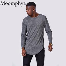 $enCountryForm.capitalKeyWord Australia - Moomphya 2017 Long Men T Shirt Soft Stretchy Extended Longline Curve Hem T -Shirt Men Streetweer Hip Hop Long Sleeve Tee Shirts