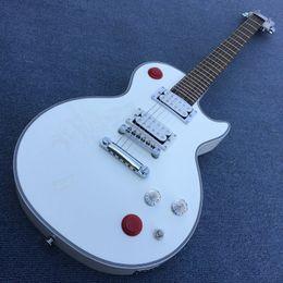 Nouveau Custom Shop Kill Switch guitare style Buckethead 24 Frets Guitare Électrique, Alpine White Guitarra, Blanc guitar180418 en Solde