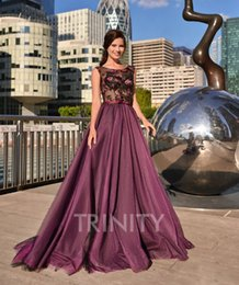 black plum prom dress Australia - Excellent Plum Black Tulle Scoop Applique Evening Dresses Special Occasion Party Dresses Prom Dresses Homecoming Custom Size 2-18 KF1221288