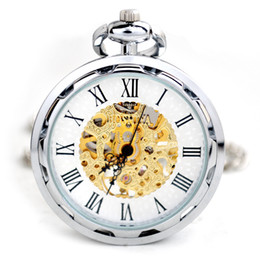 $enCountryForm.capitalKeyWord Australia - Machine Mechanical Pocket Watch Silver Machinery Hang Casual Mechanical Male Fob Chain Watches Men Women Jewelry Christmas Gifts
