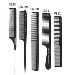 $enCountryForm.capitalKeyWord Australia - China Factory Wholesale Cheap Dense Tooth Rat Tail Carbon Fiber Brush Comb Antistatic Heat Resisted Cutting Comb