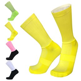 $enCountryForm.capitalKeyWord NZ - New High Quality Non-slip Silicone Cycling Socks Bicycle Racing Professional Team Aero Socks Outdoor Running Sport KY-50