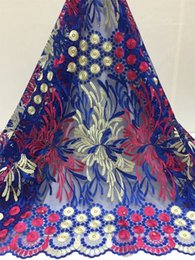 $enCountryForm.capitalKeyWord Australia - New Design African Lace Fabrics,2019 High Quality Guipure lace fabric Blue Color Cord Lace for Nigerian Wedding Dress Fabric