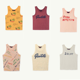 Baby Tees Australia - Baby Boy T-shirts Tao 2019 Summer Baby Boys Girl T Shirt Cotton Letter Print Sleeveless Tops Children Clothes Tees Kids Camisole J190529