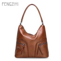 soft leather bags for women Australia - New Women's Handbag Luxury Shoulder Bag Fashion Crossbody Bags For Women Soft Leather Hand Bags Women 2020 Sac A Main Femme