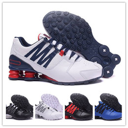save off 4313b cccb0 Nike Air Max Shox Blanc Noir Rouge Classique Shox Avenue Zapatillas De  Deporte Femmes Hommes Casual Chaussures De Mode Marche Hommes Designer  Sneakers ...