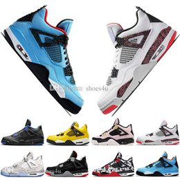 $enCountryForm.capitalKeyWord NZ - Hot Sale Newest Bred 4 4s What The Cactus Jack Laser Wings Mens Basketball Shoes Denim Blue Pale Citron Men Sports Designer Sneakers 5.5-13