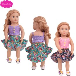 preppy clothing Australia - Cute 18 inch American doll clothes accessories two pieces of skirt