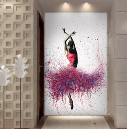 Oil paint dance girls online shopping - HD Printed Piece Elegant Dancing Ballerina Oil Painting Abstract Ballet Girl Wall Painting Multi Choices Large Canvas