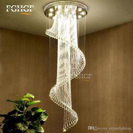$enCountryForm.capitalKeyWord Australia - Modern Crystal Chandelier Large Size Crystal Chandeliers Spiral Lamp Long Stair Lustres Lighting Fixture Foyer Hotel Villa