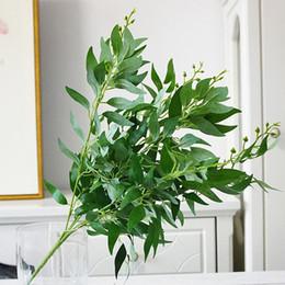 Folhas artificiais bouquet salgueiro falso selva decoração de casamento decoração de natal falso folhagem videira festa decoração de casa planta Frete grátis venda por atacado